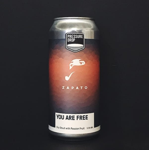 Pressure Drop Zapato You Are Free Dry Stout with passionfruit London vegan