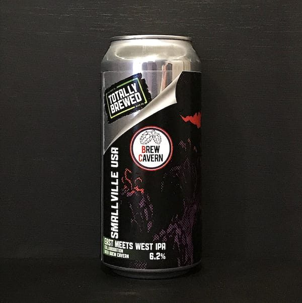 Totally Brewed Brew Cavern Smallville USA East meets West Coast IPA Nottingham collaboration vegan
