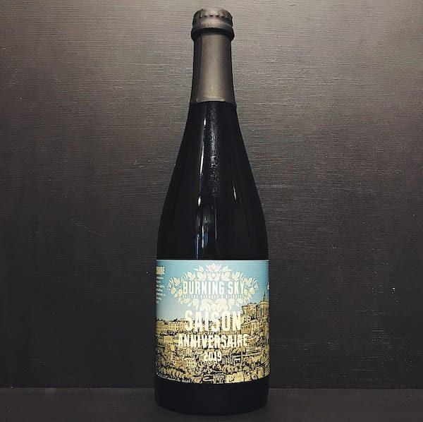 Burning Sky Saison Anniversaire 2019 Sussex blended chardonnay barrel aged vegan