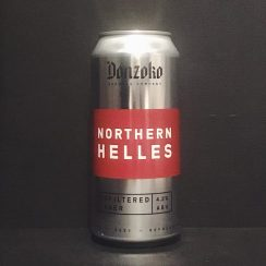 Donzoko Northern Helles Unfiltered Lager Hartelpool vegan