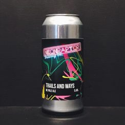 Neon Raptor Trails and Ways New England Pale Ale Nottingham vegan