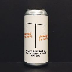 Cloudwater Whats Best For Us Is Also Best For You West Coast DIPA Manchester vegan