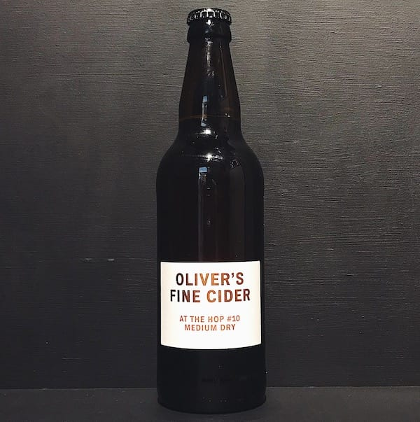 Olivers At The Hop 10 Fine Medium Dry Hopped Natural Cider Herefordshire vegan gluten free
