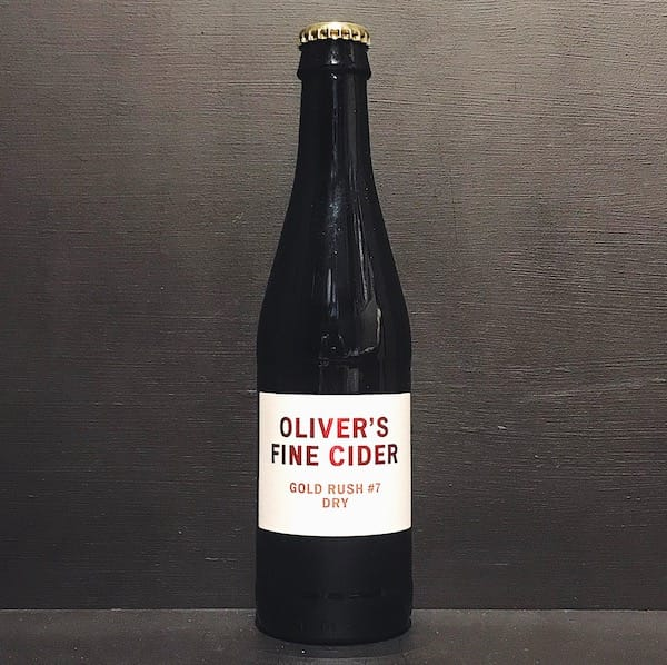 Olivers Gold Rush #7 Angry Orchard Cider Herefordshire vegan gluten free