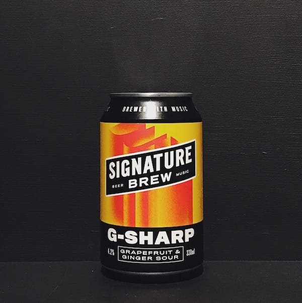 Signature Brew G-Sharp Grapefruit & Ginger Sour London vegan