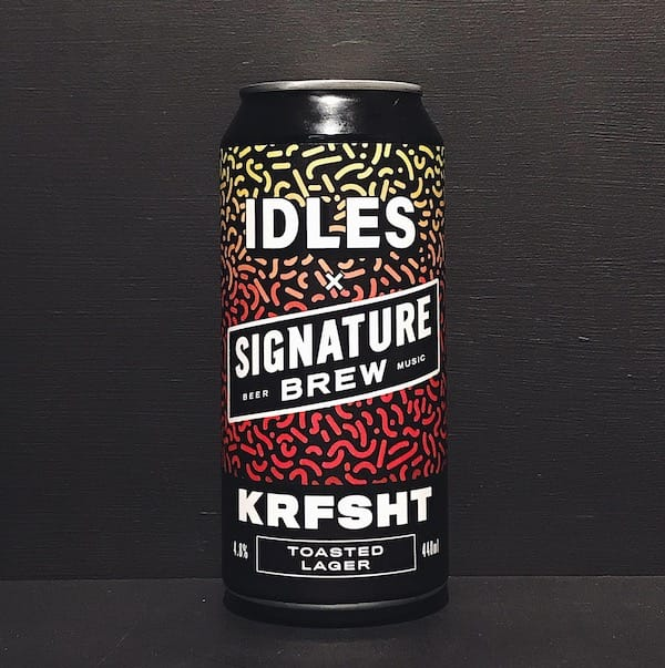Signature Brew IDLES KRFSHT Toasted Lager London vegan