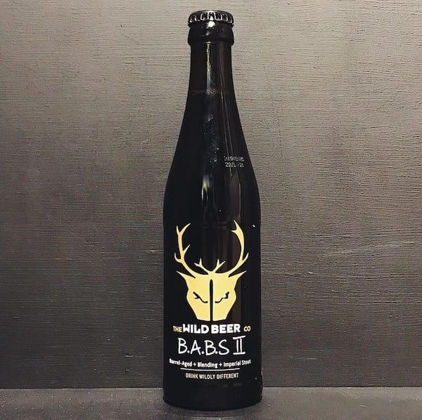 Wild Beer BABS II Barrel Aged Blended Stout. Somerset vegan