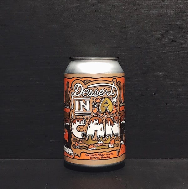 Amundsen Dessert In A Can - Chocolate Peanut Butter Caramel Brownie Imperial Stout Norway