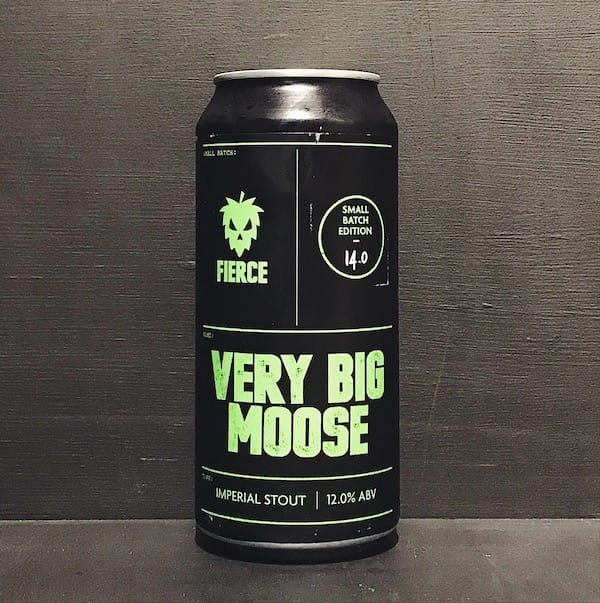 Fierce Very Big Moose Imperial Stout Scotland vegan