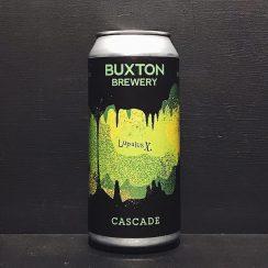 Buxton Lupulus X Cascade IPA Derbyshire vegan