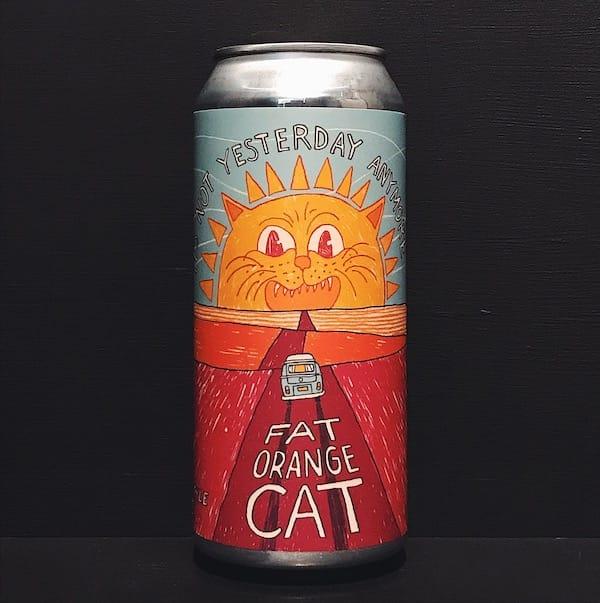 Fat Orange Cat Its Not Yesterday Anymore NEIPA USA vegan