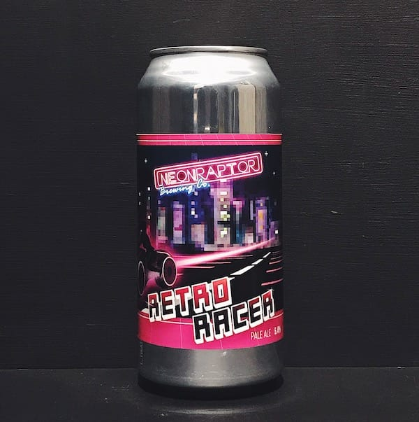 Neon Raptor Retro Racer Pale Ale Nottingham vegan