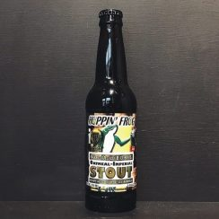 Hoppin Frog Barrel Aged Boris The Crusher Imperial Stout aged in whiskey barrels. USA vegan