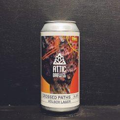 Attic Brew Co Crossed Paths Koslch Birmingham vegan