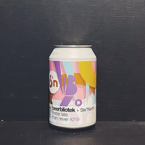 Beerbliotek Six Degrees North Better Late Than Never NEIPA Vegan Sweden collaboration