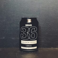 Brew By Numbers 36 Kolsch Style Loral London vegan
