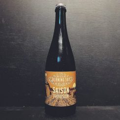 Burning Sky Saison Provision Barrel Aged Farmhouse Ale Sussex vegan