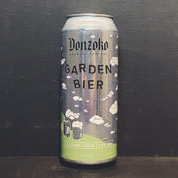 Donzoko Garden Bier Session Lager Hartlepool vegan