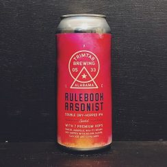 Trim Tab Rulebook Arsonist DDH IPA USA vegan