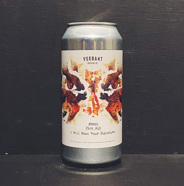 Verdant I Will Need Your Signature Pale Ale Cornwall vegan