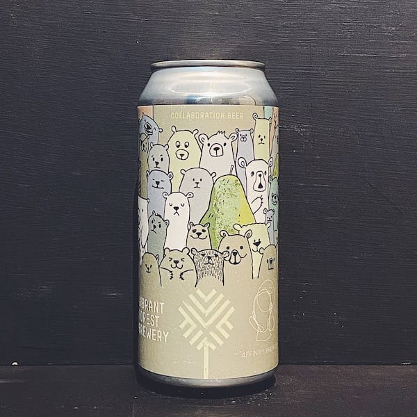Vibrant Forest Affinity Grizzly Pear Gooseberry & Pear Gose Hampshire vegan collaboration