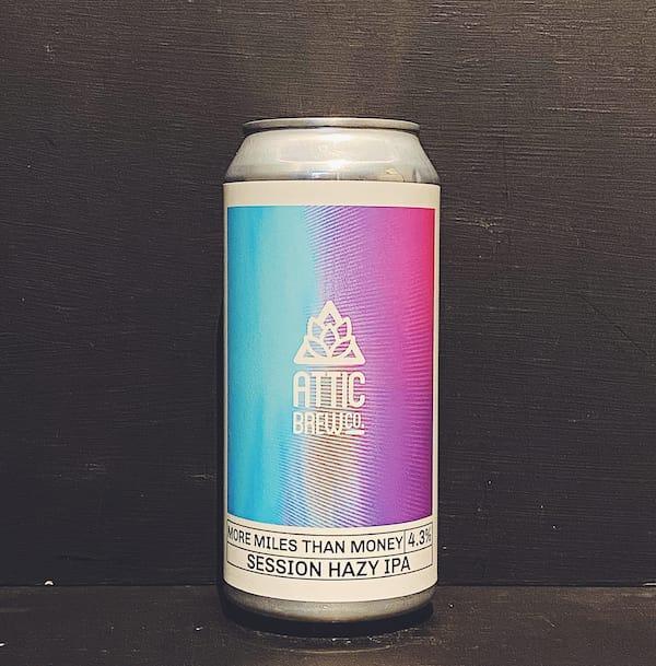 Attic Brew Co More Miles Than Money Session NEIPA Birmingham vegan