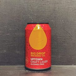 Big Drop Uptown Craft Lager Low Alcohol Suffolk vegan