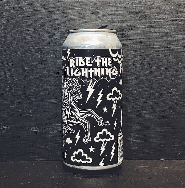 Black Iris X Twisted Barrel Ride The Lightning NZ Wheat Ale Nottingham vegan friendly