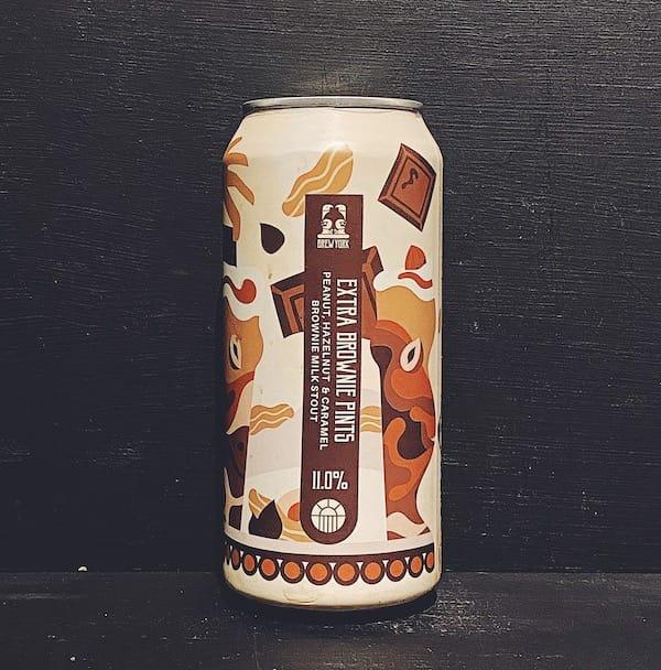 Brew York Extra Brownie Pints Peanut, hazelnut & caramel brownie milk stout.