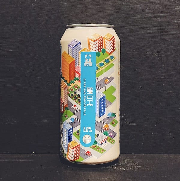 Brew York Sim Cit-E Pale Ale Yorkshire vegan