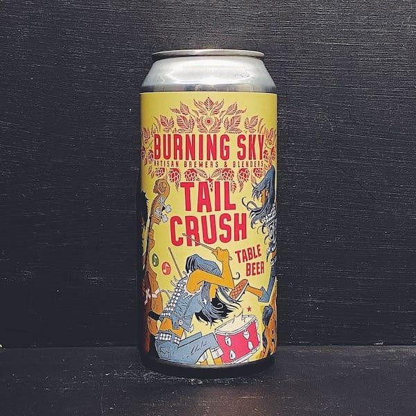 Burning Sky Tail Crush Table Beer Sussex vegan