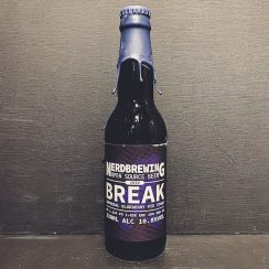 Nerdbrewing Break Imperial milk stout with blueberries and vanilla. Sweden