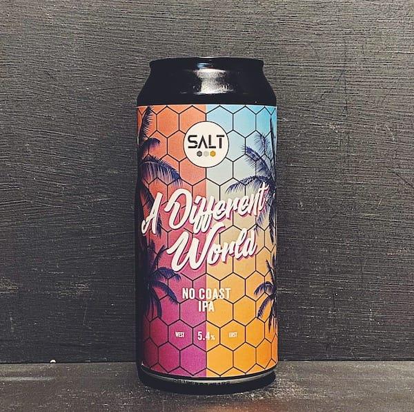 Salt Beer Factory A Different World No Coast IPA Yorkshire vegan