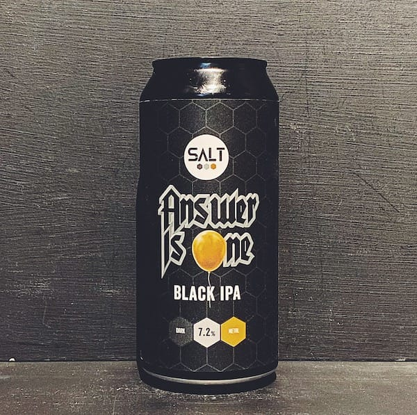 Salt Beer Factory Answer Is One Black IPA Yorkshire vegan