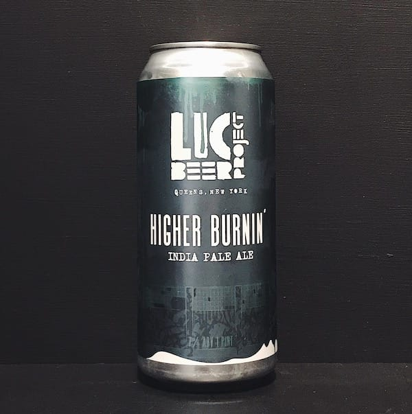 LIC Beer Project Higher Burnin IPA USA vegan
