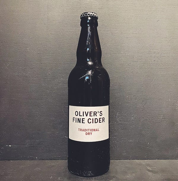 Olivers Traditional Dry 2018 Cider Herefordshire vegan gluten free