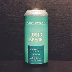 Pentrich Brewing Logic Break IIPA Derbyshire vegan