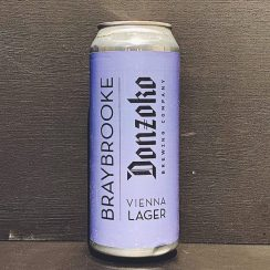 Braybrooke Donzoko Vienna Lager Leicestershire collab vegan