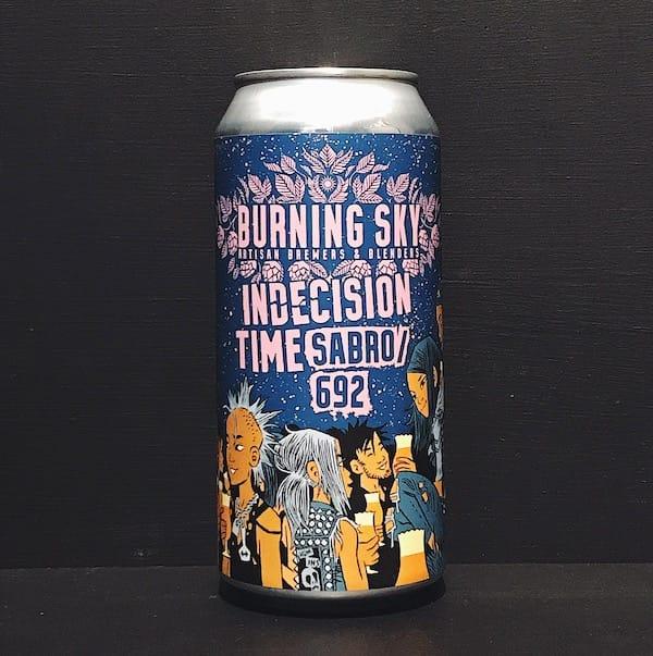 Burning Sky Indecision Time Sabro 692 Pale Ale Sussex vegan