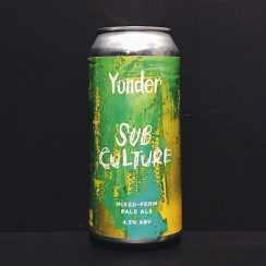 Yonder Subculture Mixed Ferm Pale Ale Somerset vegan