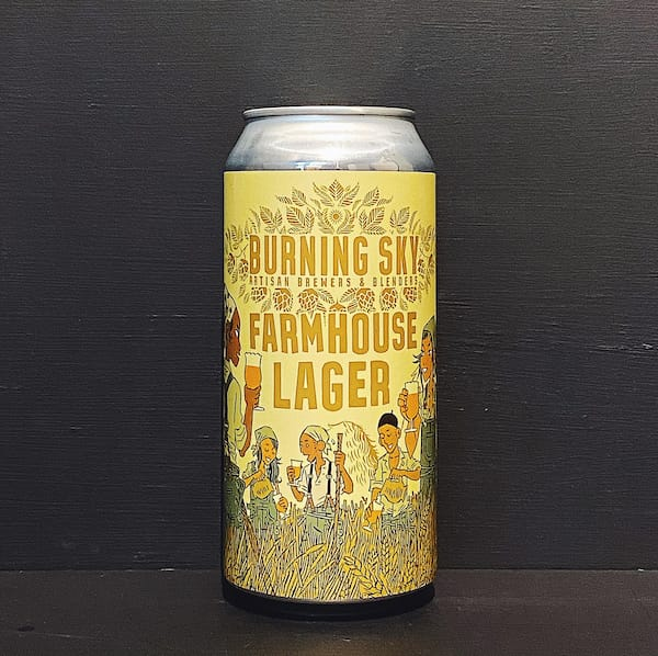 Burning Sky Farmhouse Lager Sussex vegan