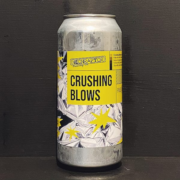 Neon Raptor Crushing Blows Pale Ale Nottingham vegan