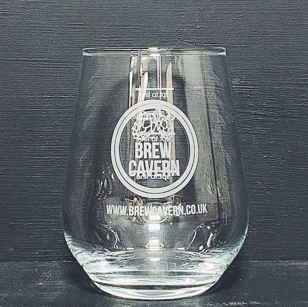 Brew Cavern 2/3rd Pint Allegra Glass Nottingham