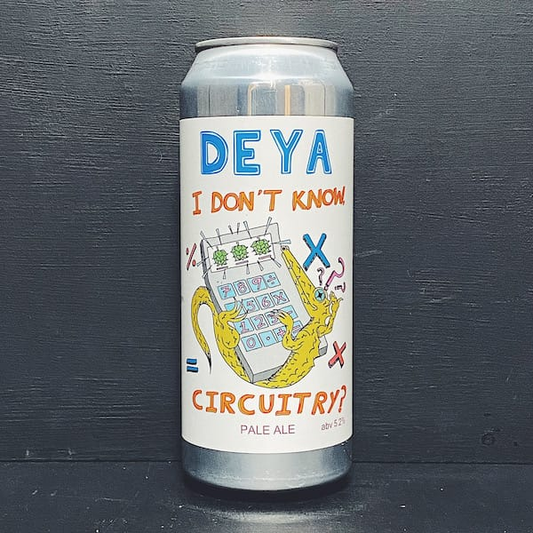 Deya I Dont Know Circuitry Pale Ale Cheltenham vegan