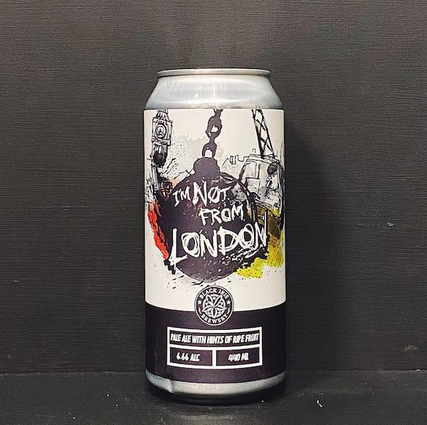 Black Iris Im Not From London Pale Ale Nottingham vegan