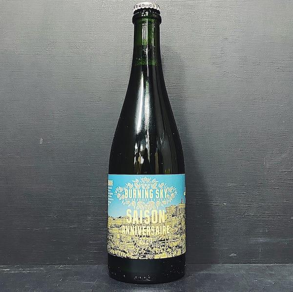Burning Sky Saison Anniversaire 2020 Chardonnay barrel aged Sussex vegan