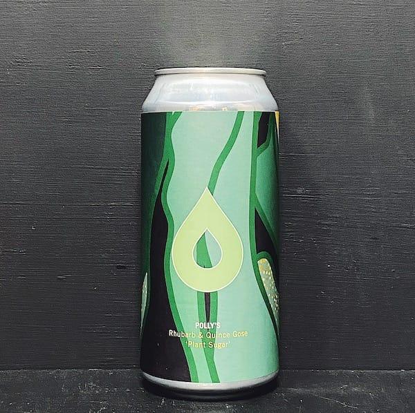 Pollys Brew Co Plant Sugar Rhubarb & Quince Imperial Gose Wales vegan