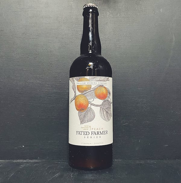 Trillium Fated Farmer Peach Wild Ale USA vegan