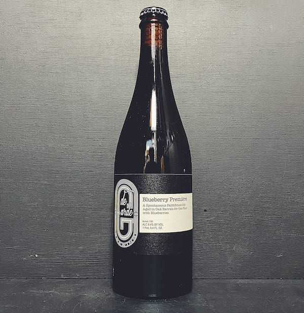 De Garde Blueberry Premiere Farmhouse Ale USA vegan