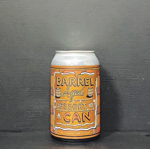 Barrel Aged Dessert In A Can Tonka & Caramel Swirl Ice Cream. Barrel Aged Tonka & Caramel Swirl Ice Cream Imperial Pastry Stout. Contains lactose. Norway